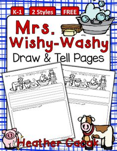 Mrs. Wishy-Washy Inspired Writing & Comprehension Activity {FREE} | Heather Cacak's Pre-K & Kindergarten Teaching Resources