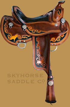 Petroglyph saddle-Skyhorse Saddles. I have never seen anything like these saddles. Look at their website.