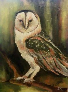 """""""Sova"""", olej na plátně, 30x40 cm."""