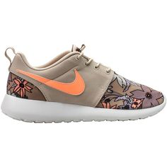Nike WMNS Womens Roshe Run Aloha ($150) ❤ liked on Polyvore featuring shoes, sneakers, nike, shoe club, women, nike sneakers, light weight shoes, flower print shoes, floral sneakers and floral print shoes