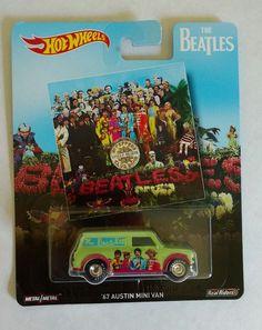 Hot Wheels Pop Culture Beatles '67 Austin Mini Van Sgt. Pepper's 2017 Metal #HotWheels #Austin