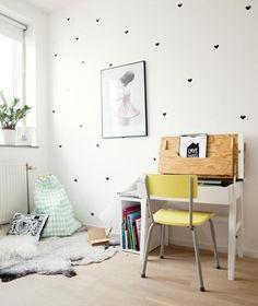 Un dormitorio nórdico infantil
