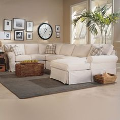 Broyhill Veronica Raf Chaise Sectional Sofa Living Room Gallery Furniture Home Decorating Pinterest Rooms