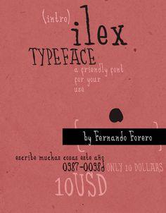 ILEX Typeface by Fernando Forero, via Behance