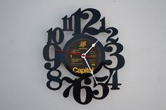 VINYL RECORD CLOCK ARTIST IS VIOLATION BY VINYLCLOCKWORK ON ETSY, $23.00