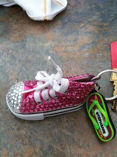 Cute lil pink shoe key chain