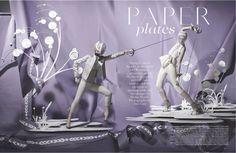 Vogue UK June 2012 - Paper Plates @ Street Stylista