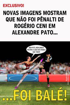 Minha charge sobre a polêmica do pênalti cometido por Rogério Ceni sobre Alexandre Pato no jogo São Paulo 1x2 Corinthians, em 31/03/2013.
