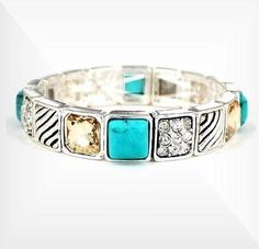 David Yurman Inspired Turquoise Stretch Bracelet WB0331/ASTQS by Teachergifts. $22.95. This is a David Yurman Designer Inspired Turquoise Elegant stretch Bracelet silver tone with intricate design work. Silver Bracelets are in and wearing multi bracelets in different styles together is popular and stylish.  Our selection of silver tone and gold tone bracelets are stunning and amazing.   You will love the variety and selection of our bangles and look a like designer...