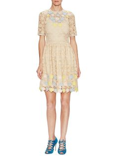 Robe Roses Lace Dress by Manoush at Gilt