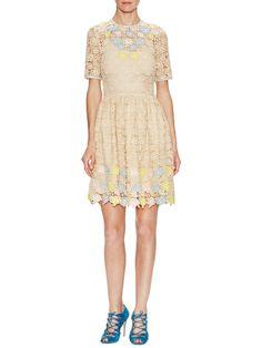 Robe Roses Lace Dress by Manoush at Gilt