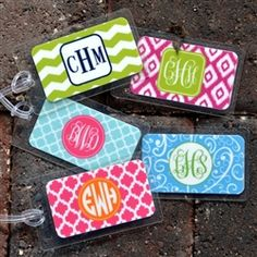 Personalized Monogrammed Bag Tag- Design Your Own | Bag tag, Tags ...
