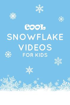 Cool Snowflake Videos for Kids~Help kids learn about snowflakes with these fun videos for preschoolers and school age kids Kindergarten Science, Science Activities, Science Videos, Steam Activities, Science Lessons, Art Lessons, Winter Activities For Kids, Science For Kids, Toddler Activities