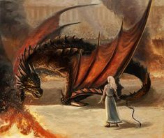 Dragons are not horses. They do not easily accept men upon their backs and when angered or threatened they attack. Daenerys and Drogon by Afternoon63