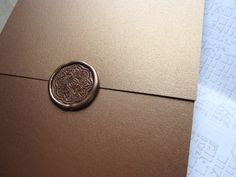 bronze wax seal wedding invitations for dc wedding 550x412 A Very DC Invitation Suite