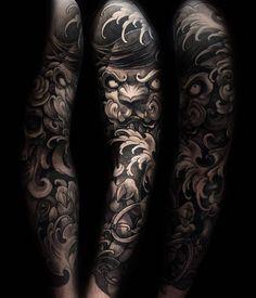 Japanese tattoo sleeve by @julienthibers.
