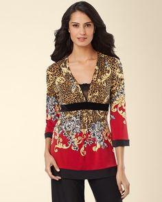Soma Intimates Limited Edition Riviera Long Sleeve Pajama Top  somaintimates 6386d8cd3