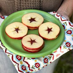 The natural starlike center of an apple makes this PB