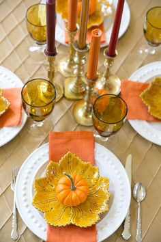 Fall dinner party tablescape