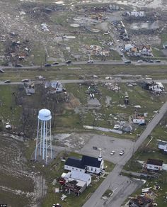 Deadliest tornado outbreak in Mid-west in forty years. In this aerial photo, debris is strewn about, Saturday, March in Marysville, Indiana. Wild Weather, Weather News, Severe Weather, Extreme Weather, Tornado Damage, 20 Month Old, Indiana Girl, Take Shelter, Dust Storm