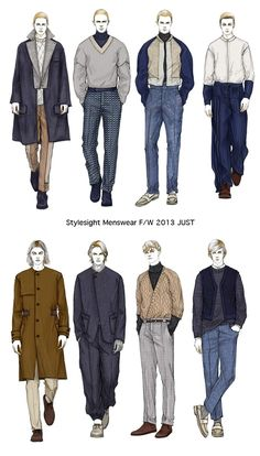 Fashion Illustrator Mengjie Di: New work for Styelsight Menswear F/W 2013 JUST                                                                                                                                                                                 More