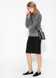 Pullover geometrico lana