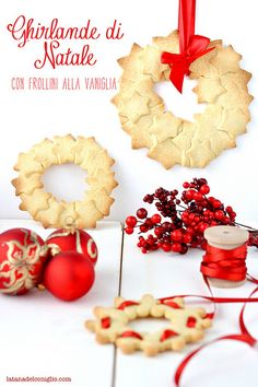 ghirlande di Natale con frollini vaniglia