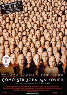 Cómo ser John Malkovich (1999) EEUU. Dir: Spike Jonze. Comedia. Fantástico. Películas de culto - DVD CINE 282