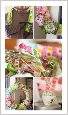 Weekend crafting collage