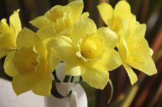 Daffodils Crepe paper flowers by FlowerBazaar on Etsy, $21.00