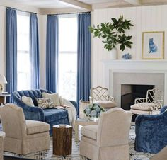 blue and white. nice colors but not furniture