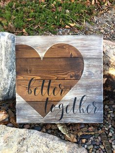 Better togetherRustic home decorRustic home by DodsonDecor on Etsy