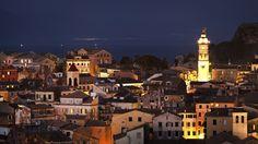 Corfu Hotels, Corfu Town, Green Scenery, Corfu Island, Holidays, Mansions, House Styles, City, Beach