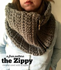 Learn how to make our crochet cowl with a zipper. This simple cowl pattern  is fun, stylish, and WARM. This cowl will be a staple in your winter  wardrobe.