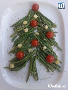 Bijgerecht kerst: lauwwarme salade in de vorm van een kerstboom. - Instructies - Weethetsnel.nl