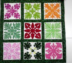 Hawaiian Quilt Patterns, Applique Quilt Patterns, Hawaiian Quilts, Pattern Blocks, Hawaiian Crafts, Flower Quilts, Textile Design, Quilt Blocks, Stencils