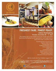 Treat yourself to a Thanksgiving Feast at Arterra Del Mar! #holidays #Thanksgiving #SanDiego #DelMar