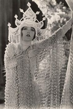 """♕ Vintage Costume Variations ♕ Aileen Pringle in """"A Thief In Paradise"""" c. 1925"""