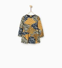 PATCH PRINT DRESS-DRESSES-Baby girl-Baby | 3 months - 3 years-KIDS | ZARA United States $36