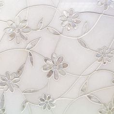 Narcissus Thassos And Mother Of Pearl Tile   Tilebar.com