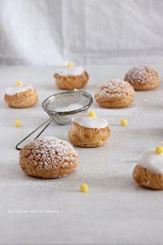 choux047 Petits choux (choux craquelins au lemon curd & petits choux glacés à la vanille)