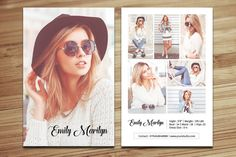 Modeling Comp Card Template  Fashion Model comp by TemplateStock