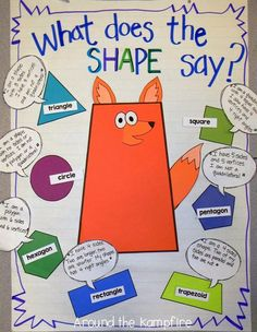 What Does The Shape Say? 2D & 3D shape activities. We had so much fun with this!