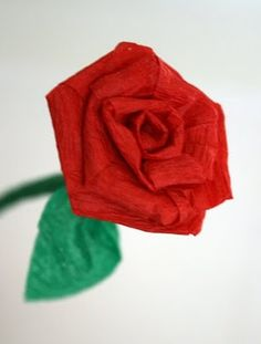 Filth Wizardry: Mini roses from dollar store crepe paper streamers