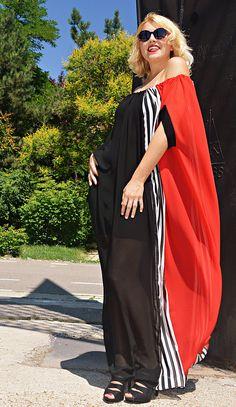 Summer Maxi Dress TDK266 Striped Party Dress Striped Caftan https://www.etsy.com/listing/527220576/summer-maxi-dress-tdk266-striped-party?utm_campaign=crowdfire&utm_content=crowdfire&utm_medium=social&utm_source=pinterest