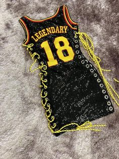 Legendary Jersey is a sexy mini dress made out of stretch sequins with daring lace up sides. This item has fast shipping and ships out next business day. Teenage Outfits, Teen Fashion Outfits, Outfits For Teens, Girl Outfits, 16th Birthday Outfit, Birthday Outfit For Teens, Cute Swag Outfits, Dope Outfits, Jersey Outfit