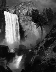 Vernal Fall, 1960 by Ansel Adams