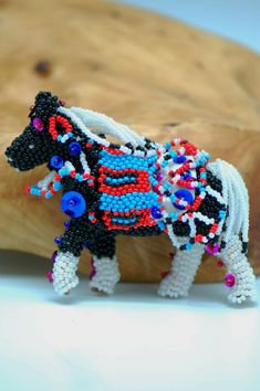 Beaded Horses Zuni | Native American Beaded Horse | Native American Bead Work