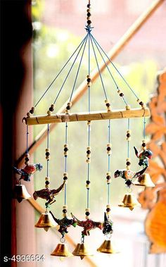 Wind Chimes Stylish Home Hanging Wind Chimes Material: Terracotta Size (L X W X H): 30 cm x 5 cm x 50  cm Description: It Has 1 Piece of Hanging Wind Chimes Work: Handcrafted Country of Origin: India Sizes Available: Free Size *Proof of Safe Delivery! Click to know on Safety Standards of Delivery Partners- https://ltl.sh/y_nZrAV3  Catalog Rating: ★4.1 (1632)  Catalog Name: Stylish Home Hanging Wind Chimes Vol 1 CatalogID_321271 C127-SC1619 Code: 491-4936684-