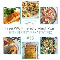 MyWW Friendly Meal Plan with green, blue, and purple points - Meal Planning Mommies Smart Snacks, Quick Snacks, Ww Recipes, Dinner Recipes, Healthy Recipes, Healthy Food, List Of Salads, Ground Turkey Stroganoff, Best Summer Desserts